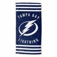 Tampa Bay Lightning Stripes Beach Towel