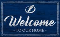Tampa Bay Lightning Team Color Welcome Sign