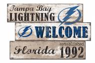 Tampa Bay Lightning Welcome 3 Plank Sign