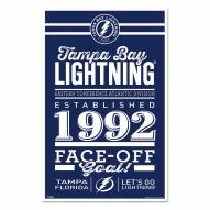 Tampa Bay Lightning Established Wood Sign