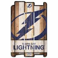 Tampa Bay Lightning Wood Fence Sign