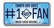Tampa Bay Rays #1 Fan License Plate