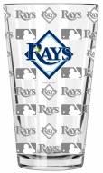 Tampa Bay Rays 16 oz. Sandblasted Pint Glass