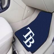Tampa Bay Rays 2-Piece Carpet Car Mats