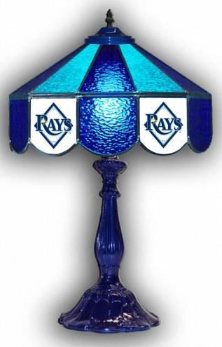 """Tampa Bay Rays 21"""" Glass Table Lamp"""