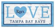 "Tampa Bay Rays 6"" x 12"" Love Sign"