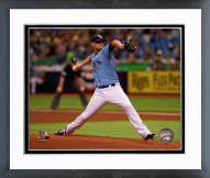 Tampa Bay Rays Alex Cobb Action Framed Photo