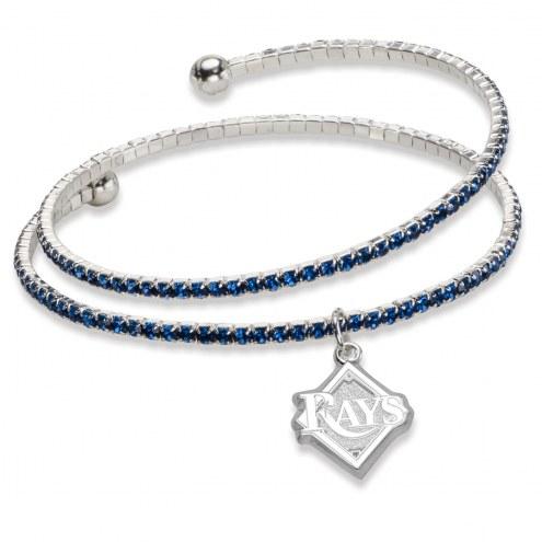 Tampa Bay Rays Amped Logo Crystal Bracelet