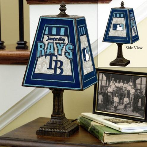 Tampa Bay Rays Art Glass Table Lamp