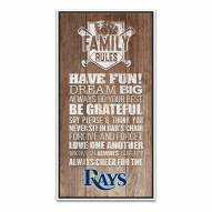 Tampa Bay Rays Family Rules Icon Wood Framed Printed Canvas