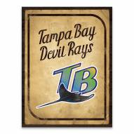 Tampa Bay Rays Vintage Card Printed Canvas
