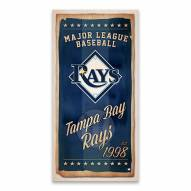 Tampa Bay Rays Watercolor Printed Canvas