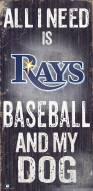 Tampa Bay Rays Baseball & My Dog Sign