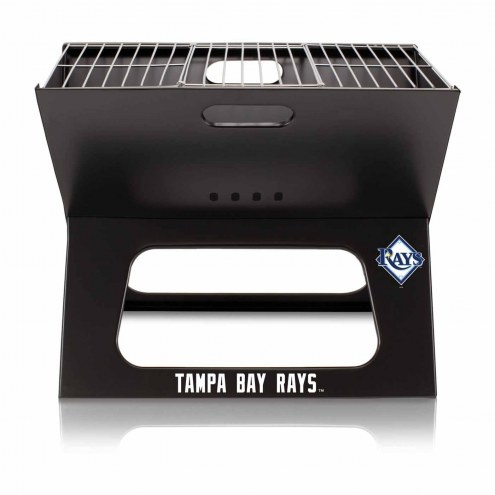 Tampa Bay Rays Black Portable Charcoal X-Grill