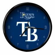 Tampa Bay Rays Black Rim Clock