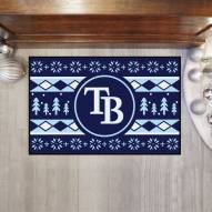 Tampa Bay Rays Christmas Sweater Starter Rug