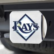 Tampa Bay Rays Chrome Color Hitch Cover
