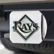 Tampa Bay Rays Chrome Metal Hitch Cover