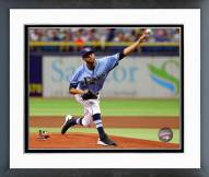 Tampa Bay Rays David Price Action Framed Photo