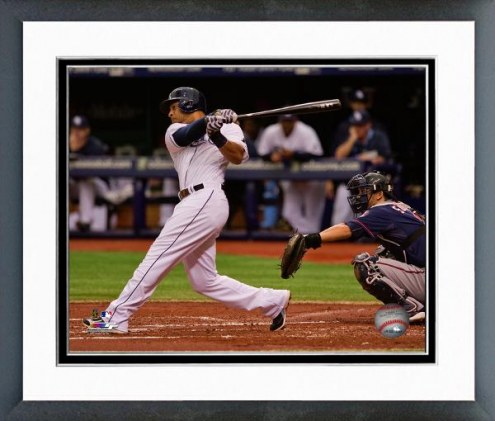Tampa Bay Rays Desmond Jennings Action Framed Photo