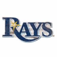 Tampa Bay Rays Distressed Logo Cutout Sign