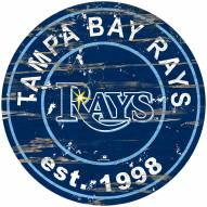 Tampa Bay Rays Distressed Round Sign