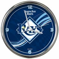 Tampa Bay Rays Dynamic Chrome Clock
