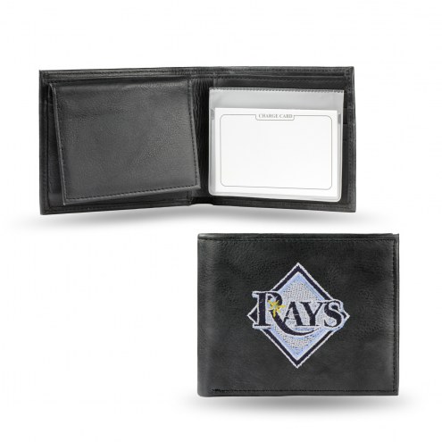 Tampa Bay Rays Embroidered Leather Billfold Wallet