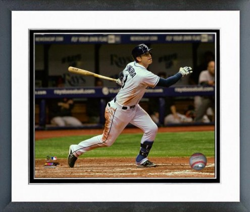 Tampa Bay Rays Evan Longoria Action Framed Photo