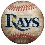Tampa Bay Rays Baseball Shaped Sign