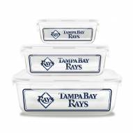 Tampa Bay Rays Glass Food Container Set