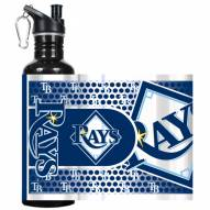 Tampa Bay Rays Hi-Def Black Stainless Steel Water Bottle