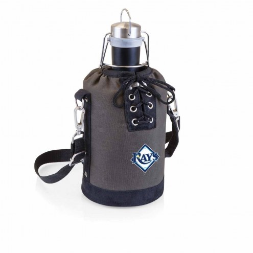 Tampa Bay Rays Insulated Growler Tote with 64 oz. Stainless Steel Growler