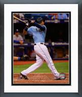 Tampa Bay Rays James Loney Action Framed Photo