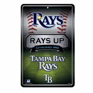 Tampa Bay Rays Large Embossed Metal Wall Sign
