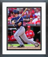 Tampa Bay Rays Logan Forsythe Action Framed Photo