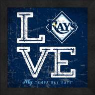 Tampa Bay Rays Love My Team Color Wall Decor