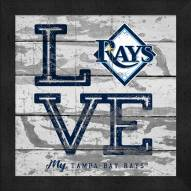 Tampa Bay Rays Love My Team Square Wall Decor