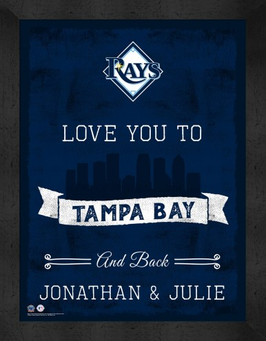Tampa Bay Rays Love You to and Back Framed Print