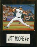 "Tampa Bay Rays Matt Moore 12"" x 15"" Player Plaque"