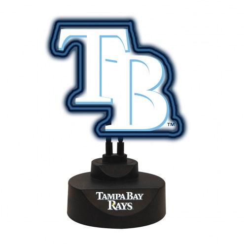 Tampa Bay Rays Team Logo Neon Light