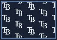 Tampa Bay Rays MLB Repeat Area Rug