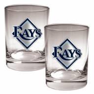 Tampa Bay Rays MLB 2-Piece 14 Oz. Rocks Glass Set