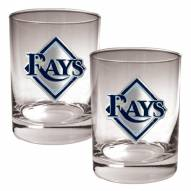 Tampa Bay Rays MLB 2-Piece 14 Oz. Rocks Glass Set