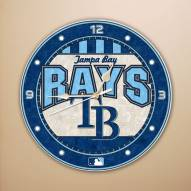 Tampa Bay Rays MLB Stained Glass Wall Clock
