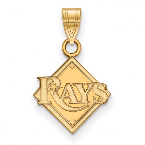 Tampa Bay Rays MLB Sterling Silver Gold Plated Small Pendant