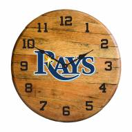 Tampa Bay Rays Oak Barrel Clock