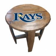 Tampa Bay Rays Oak Barrel Table