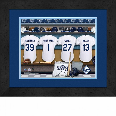 Tampa Bay Rays Personalized Locker Room 13 x 16 Framed Photograph