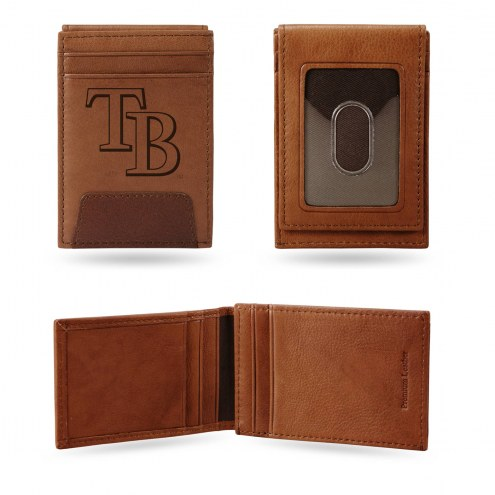 Tampa Bay Rays Premium Leather Front Pocket Wallet
